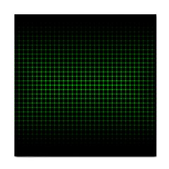 Optical Illusion Grid in Black and Neon Green Tile Coasters