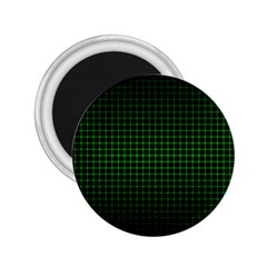 Optical Illusion Grid in Black and Neon Green 2.25  Magnets