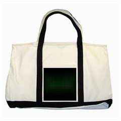Optical Illusion Grid in Black and Neon Green Two Tone Tote Bag