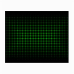 Optical Illusion Grid in Black and Neon Green Small Glasses Cloth (2-Side)