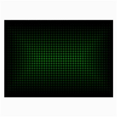 Optical Illusion Grid in Black and Neon Green Large Glasses Cloth