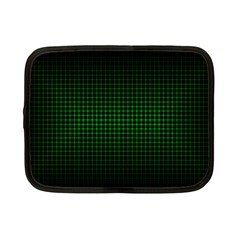Optical Illusion Grid in Black and Neon Green Netbook Case (Small)