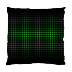 Optical Illusion Grid in Black and Neon Green Standard Cushion Case (Two Sides)