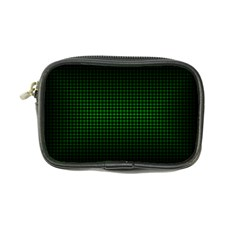 Optical Illusion Grid in Black and Neon Green Coin Purse