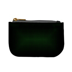 Optical Illusion Grid in Black and Neon Green Mini Coin Purses