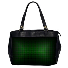 Optical Illusion Grid in Black and Neon Green Office Handbags (2 Sides)