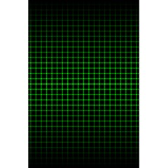 Optical Illusion Grid in Black and Neon Green 5.5  x 8.5  Notebooks