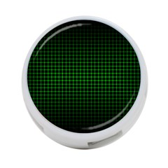 Optical Illusion Grid in Black and Neon Green 4-Port USB Hub (One Side)