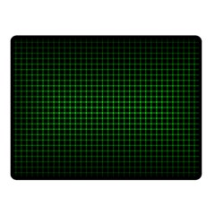 Optical Illusion Grid in Black and Neon Green Fleece Blanket (Small)