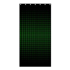 Optical Illusion Grid in Black and Neon Green Shower Curtain 36  x 72  (Stall)