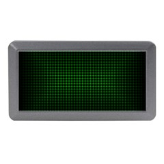 Optical Illusion Grid in Black and Neon Green Memory Card Reader (Mini)