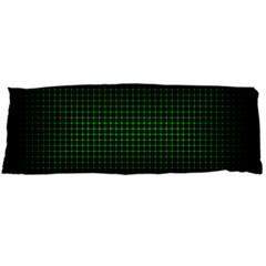 Optical Illusion Grid in Black and Neon Green Body Pillow Case Dakimakura (Two Sides)
