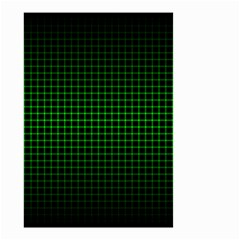 Optical Illusion Grid in Black and Neon Green Small Garden Flag (Two Sides)