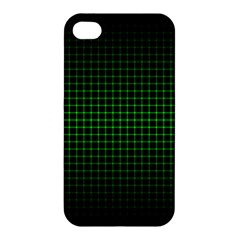 Optical Illusion Grid in Black and Neon Green Apple iPhone 4/4S Premium Hardshell Case