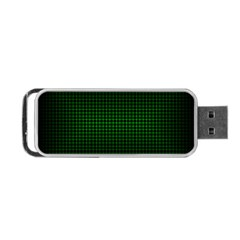 Optical Illusion Grid in Black and Neon Green Portable USB Flash (Two Sides)