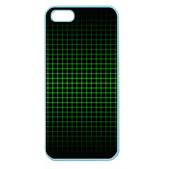 Optical Illusion Grid in Black and Neon Green Apple Seamless iPhone 5 Case (Color)