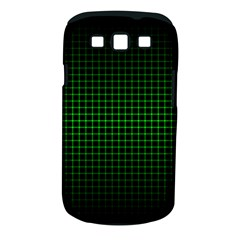 Optical Illusion Grid in Black and Neon Green Samsung Galaxy S III Classic Hardshell Case (PC+Silicone)