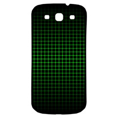 Optical Illusion Grid in Black and Neon Green Samsung Galaxy S3 S III Classic Hardshell Back Case