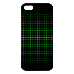 Optical Illusion Grid in Black and Neon Green Apple iPhone 5 Premium Hardshell Case