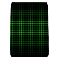Optical Illusion Grid in Black and Neon Green Flap Covers (S)