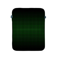 Optical Illusion Grid in Black and Neon Green Apple iPad 2/3/4 Protective Soft Cases