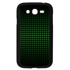 Optical Illusion Grid in Black and Neon Green Samsung Galaxy Grand DUOS I9082 Case (Black)