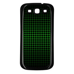 Optical Illusion Grid in Black and Neon Green Samsung Galaxy S3 Back Case (Black)