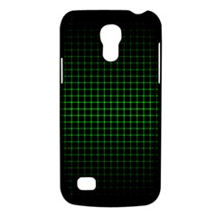 Optical Illusion Grid in Black and Neon Green Galaxy S4 Mini