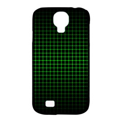 Optical Illusion Grid in Black and Neon Green Samsung Galaxy S4 Classic Hardshell Case (PC+Silicone)