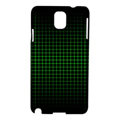 Optical Illusion Grid in Black and Neon Green Samsung Galaxy Note 3 N9005 Hardshell Case
