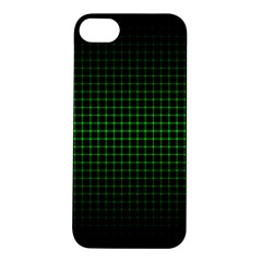 Optical Illusion Grid in Black and Neon Green Apple iPhone 5S/ SE Hardshell Case