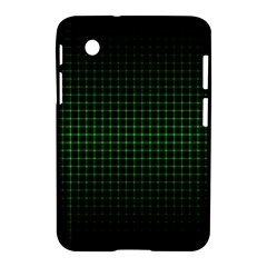 Optical Illusion Grid in Black and Neon Green Samsung Galaxy Tab 2 (7 ) P3100 Hardshell Case