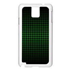 Optical Illusion Grid in Black and Neon Green Samsung Galaxy Note 3 N9005 Case (White)