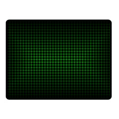 Optical Illusion Grid in Black and Neon Green Double Sided Fleece Blanket (Small)