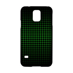 Optical Illusion Grid in Black and Neon Green Samsung Galaxy S5 Hardshell Case