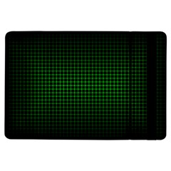 Optical Illusion Grid in Black and Neon Green iPad Air Flip