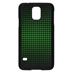 Optical Illusion Grid in Black and Neon Green Samsung Galaxy S5 Case (Black)