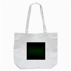 Optical Illusion Grid in Black and Neon Green Tote Bag (White)