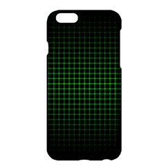 Optical Illusion Grid in Black and Neon Green Apple iPhone 6 Plus/6S Plus Hardshell Case