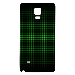 Optical Illusion Grid in Black and Neon Green Galaxy Note 4 Back Case