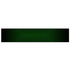 Optical Illusion Grid in Black and Neon Green Flano Scarf (Small)