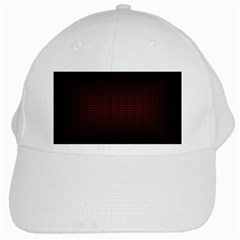 Optical Illusion Grid in Black and Red White Cap