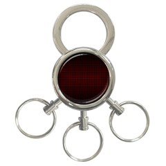 Optical Illusion Grid in Black and Red 3-Ring Key Chains