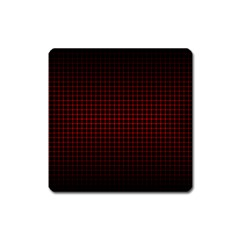 Optical Illusion Grid in Black and Red Square Magnet