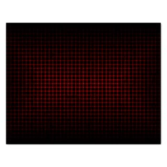 Optical Illusion Grid in Black and Red Rectangular Jigsaw Puzzl