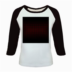 Optical Illusion Grid in Black and Red Kids Baseball Jerseys