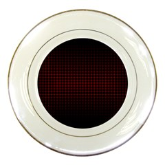 Optical Illusion Grid in Black and Red Porcelain Plates