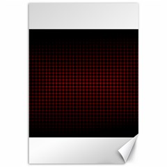 Optical Illusion Grid in Black and Red Canvas 12  x 18
