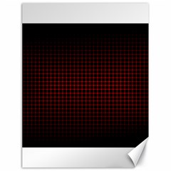 Optical Illusion Grid in Black and Red Canvas 18  x 24