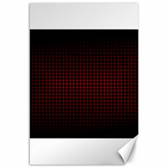 Optical Illusion Grid in Black and Red Canvas 24  x 36